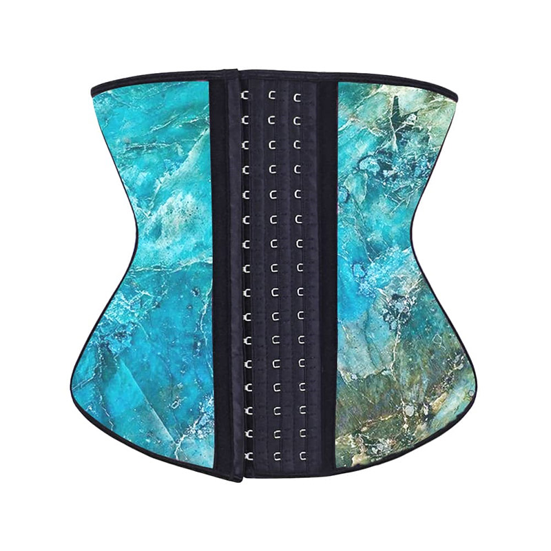 Beautiful Hook Waist Trainer Aqua Stone